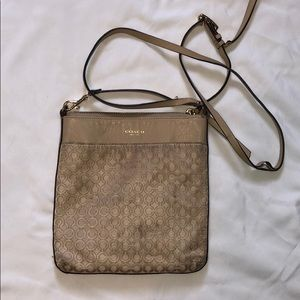 Coach crossbody purse nude color